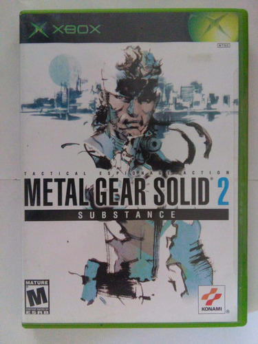 metal gear solid 2 substance xbox original mgs trqs snake
