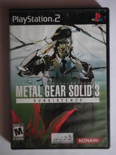 metal gear solid 3 subsistance para el play station 2
