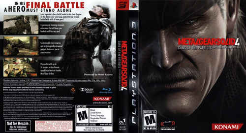 metal gear solid 4: guns of the patriots ps3 semi-novo