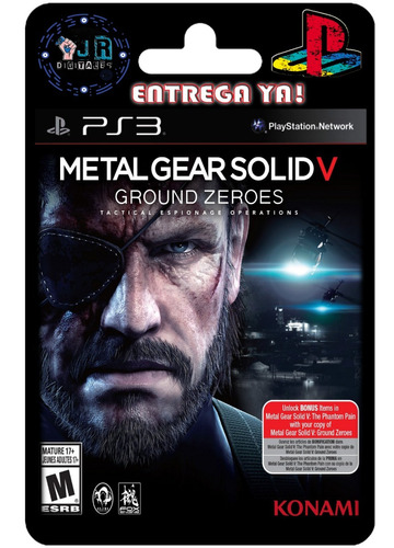 metal gear solid 5: ground zeroes ps3