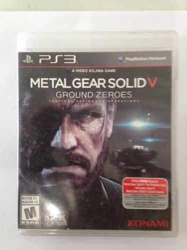 metal gear solid 5 playstation 3 ps3