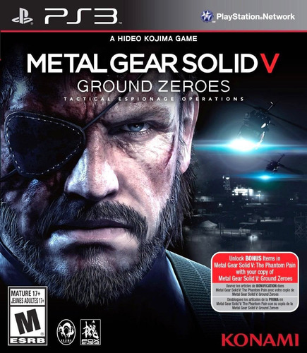 metal gear solid 5 ps3, playstation 3 juego original sellado