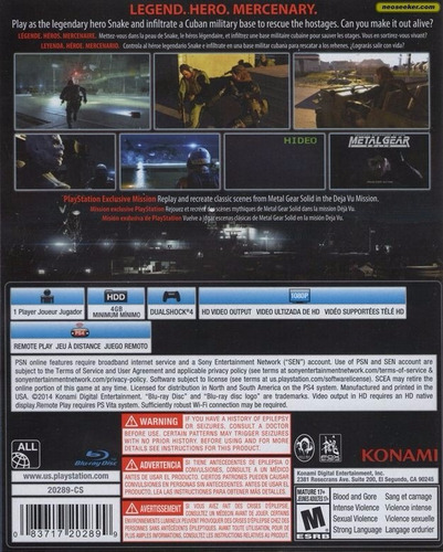 metal gear solid ground zeroes ps4