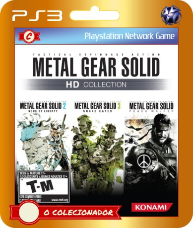 metal gear solid hd collection (cód id ps3)