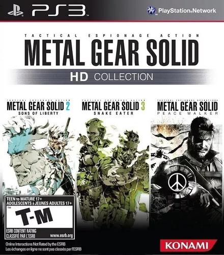 metal gear solid hd collection ps3 original-play perú