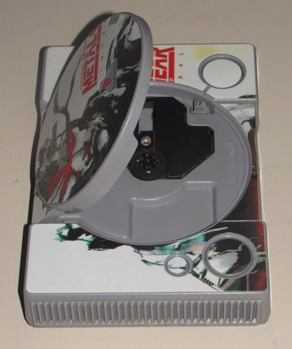 metal gear solid playstation 1 (fat)  etiqueta para consola