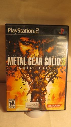 metal gear solid snake eater para playstation 2 ps2