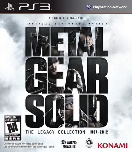 metal gear solid the legacy 100% español ps3 psn
