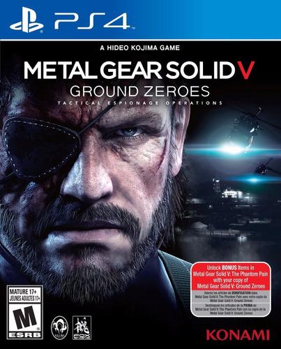 metal gear solid v - ground zeroes ps4 - nuevo