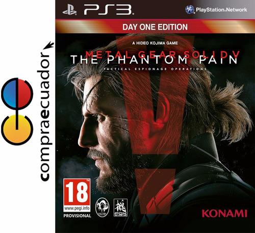metal gear solid v the phantom pain ps3 playstation 3 juego.