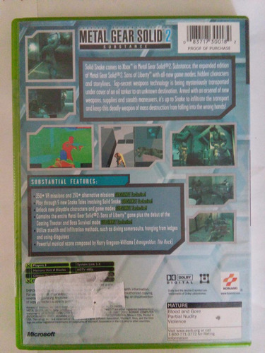 metal gear solid xbox