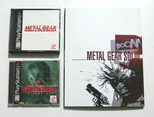 metal gear solid y vr missions y libro de arte mgs! ps1