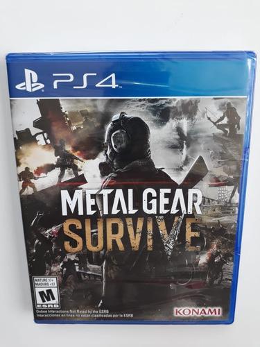 metal gear survive para ps4 nuevo y sellado