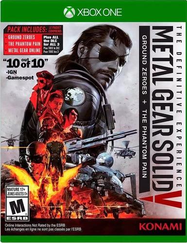 metal gear xbox one definitive edition juego nuevo fisico