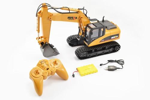 metal huina coleccion control remoto / excavadora 1550 1/14