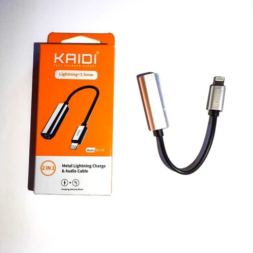 metal lightning charge & audio cable