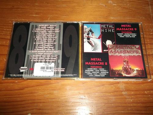 metal massacre 8 y 9 cd importado ed 1994 mdisk