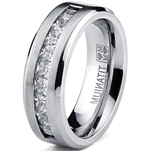 metal masters co. titanium anillo de compromiso