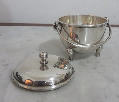 metal plateado perfecto estado christofle frances rara pieza