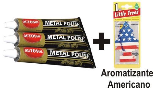 metal polish autosol polidor de metais + aromatizante eua