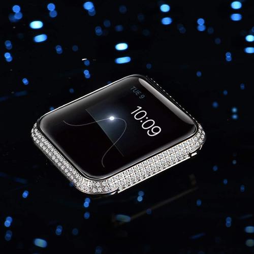 metal rhinestone cristal diamante joya bisel caja cubie...