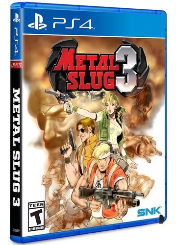 metal slug 3 / juego físico / ps4