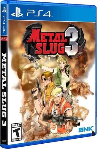 metal slug 3 / juego físico / ps4 disponible!