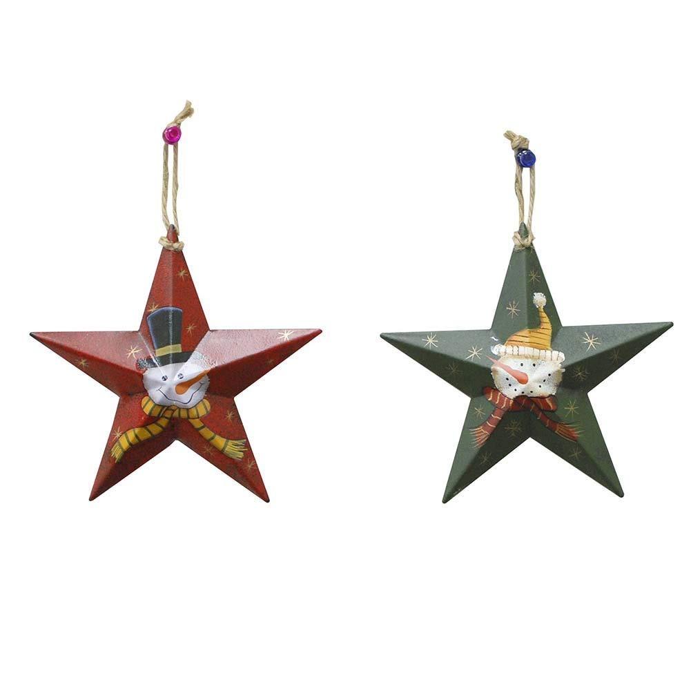 cb77a41a869 metal star barn adornos para árboles de navidad estrella ... Cargando zoom.