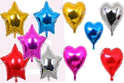 metalizado coração balão