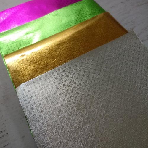metalizados papel origami  malula 15 x 15 cm