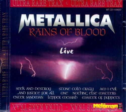 metallica 1997 rains of blood live (ultra rare trax) cd