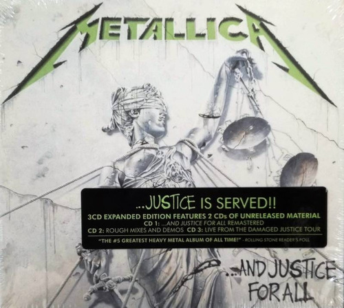 metallica - and justice for all expanded - 3 cds importado
