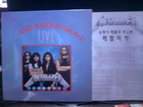 metallica and justice for all live vinilo korea