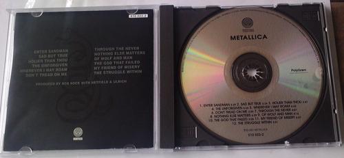 metallica black album cd made in mexico vertigo 1991 bvf