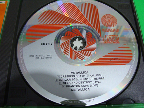 metallica - creeping death / jump in the fire (cd, germany)