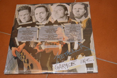 metallica garage inc. vinil triple gringo, sellado !!!
