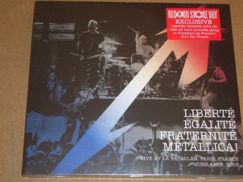 metallica - liberte live at bataclan - novo - cd lacrado