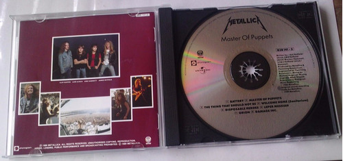 metallica master of puppets cd made in mexico 1989 bvf