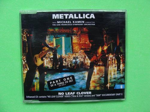 metallica - no leaf clover #1 - (cd, 1999, alemania)