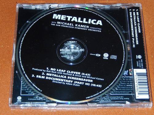 metallica no leaf clover  cd single  europa  enhanced