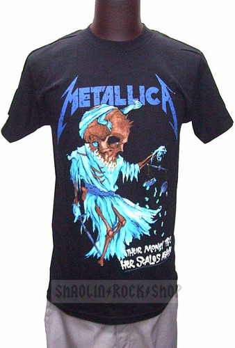 metallica playera doris srsx rock metal