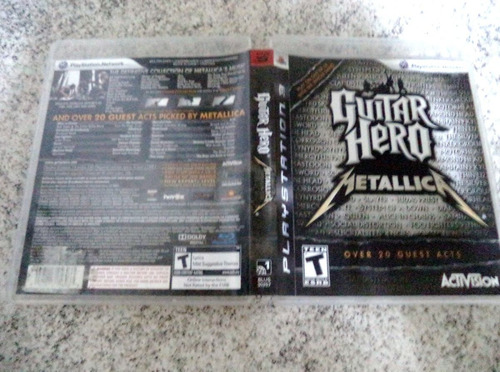 metallica ps3 guitar hero