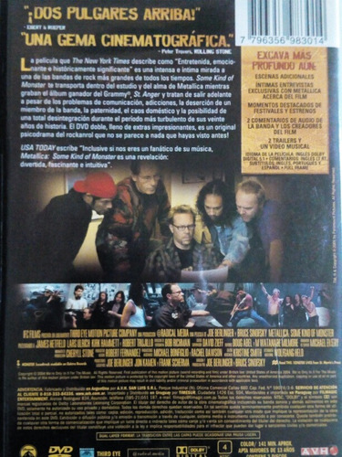 metallica some kind of monster film dvd x2