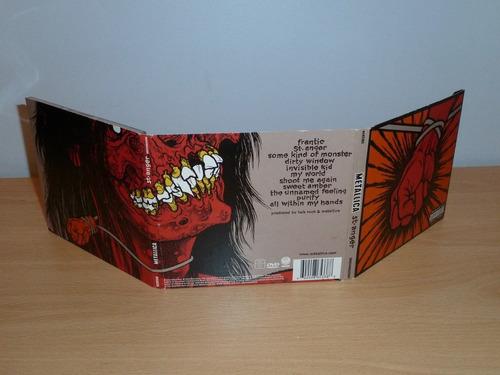 metallica - st anger. metal. cd + dvd importado.