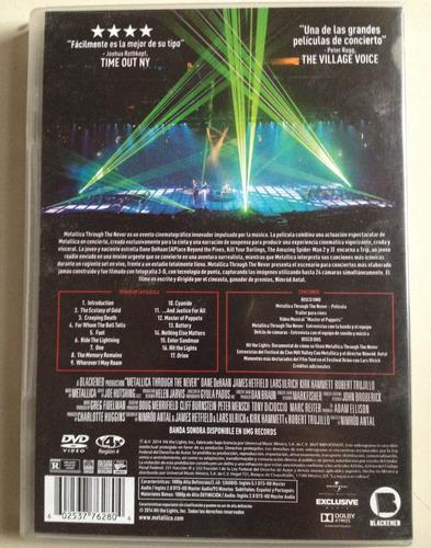 metallica through the never 2 dvds usado nacional