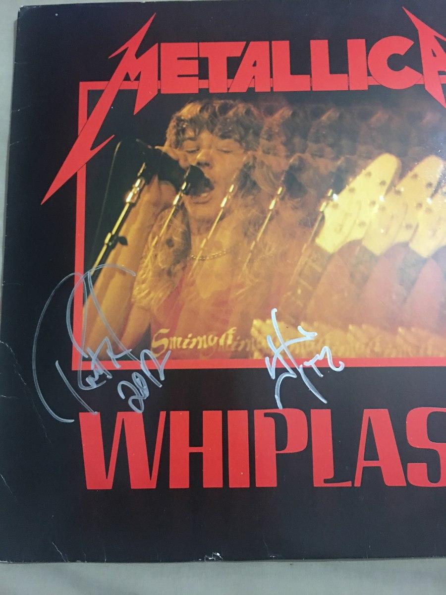 Metallica Vinyl Whiplash Autografiado Por James Hetfield - $ 6,000 00