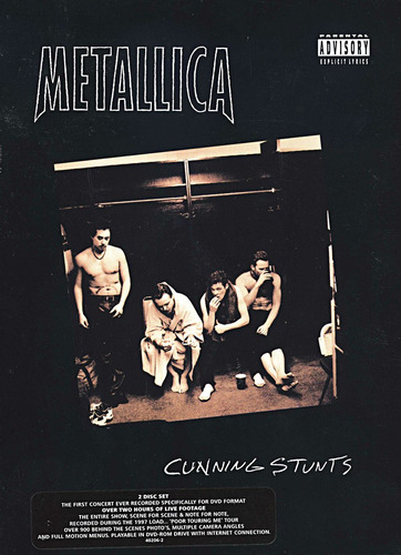 metallica:cunning stunts jewel case 2dvds import usa nuevo