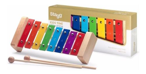 metalofon de colores para niños stagg meta-k8 8 notas