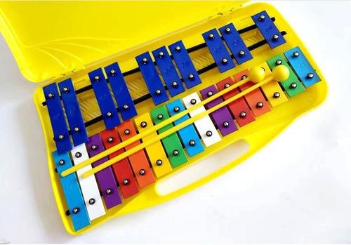 metalofono 25 notas cromado con caja impoasia