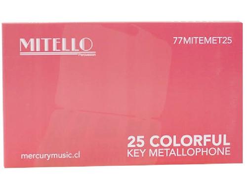 metalofono 25 notas cromatico mitello, abregoaudio